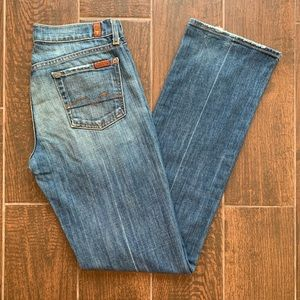 """7 for all Mankind Boy Cut 32.5"""" inseam Made in USA"""